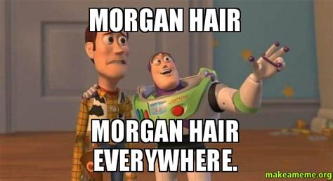 Morgan Meme - morgan hair morgan hair everywhere buzz and woody toy