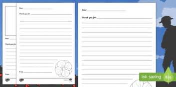 Thank You Letter Key Stage 1 Remembrance Day Ks1 Thank You Letter Template Activity