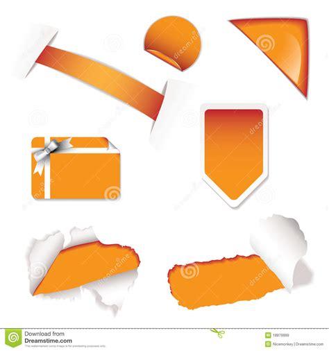 Orange Sale by Shop Sale Elements Orange Royalty Free Stock Images