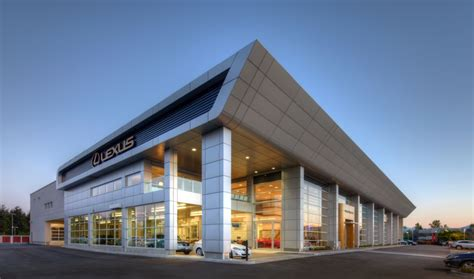 lexus dealership design luxury car dealership earns leed silver construction canada