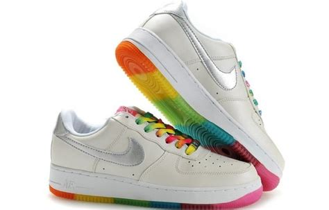 rainbow nike sneakers rainbow nike air forces colorful sneakers for silver