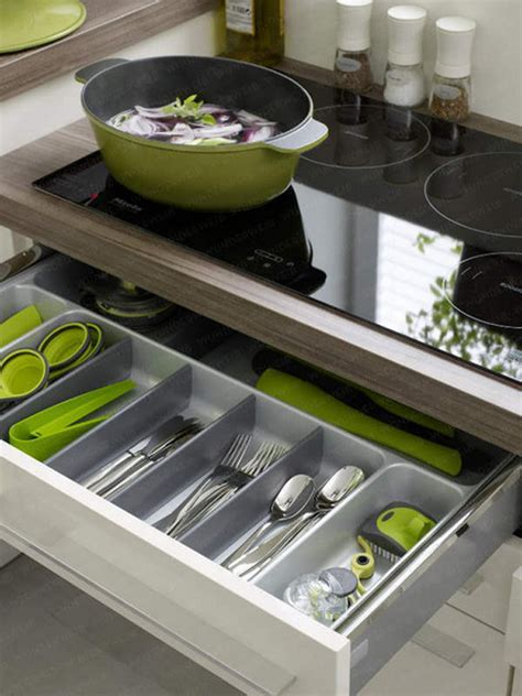 35 Functional Kitchen Cabinet With Drawer Storage Ideas | small kitchen drawer solutions