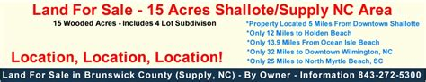 land for sale supply nc shallotte nc 15 acres with