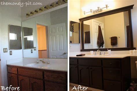How To Frame Bathroom Mirrors Adding A Frame To A Bathroom Mirror Interior Design Ideas