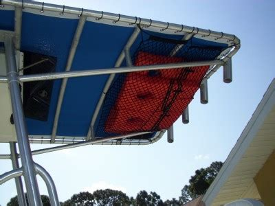 boat t top cargo net what material for under t top life jacket storage the