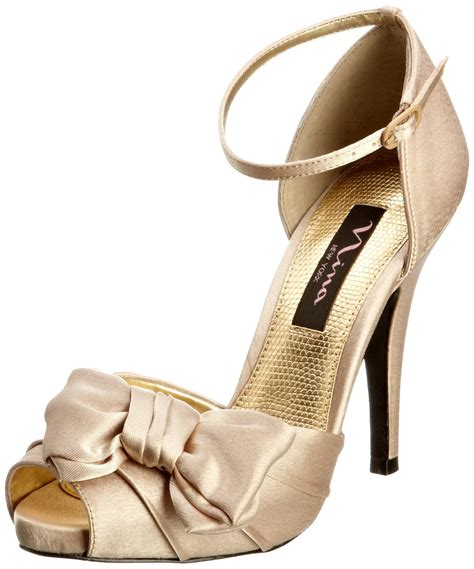 gold shoes bridal prom special occasion platform heels shoe