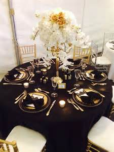 Black And Gold Table Decorations by Black And Gold Wedding Table Decorations Table Designs