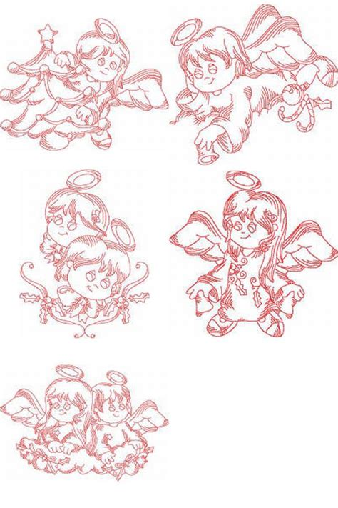 free embroidery design angel machine embroidery designs jn little angels christmas2 set