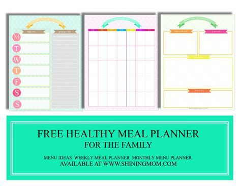 pinterest printable meal planner free meal planning binder