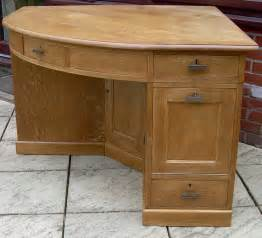 antique desk a large golden oak corner desk antiques atlas