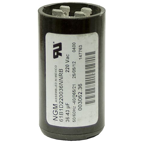 open capacitor start motor 36 43 mfd 220 vac start capacitor ngm 61b1d220053nnrb motor start capacitors capacitors