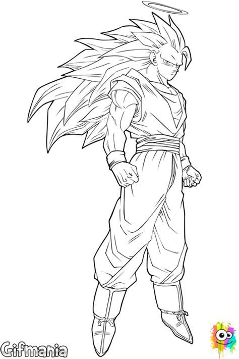 imagenes de goku transformandose en ssj3 dibujo de goku super saiyajin 3 para colorear