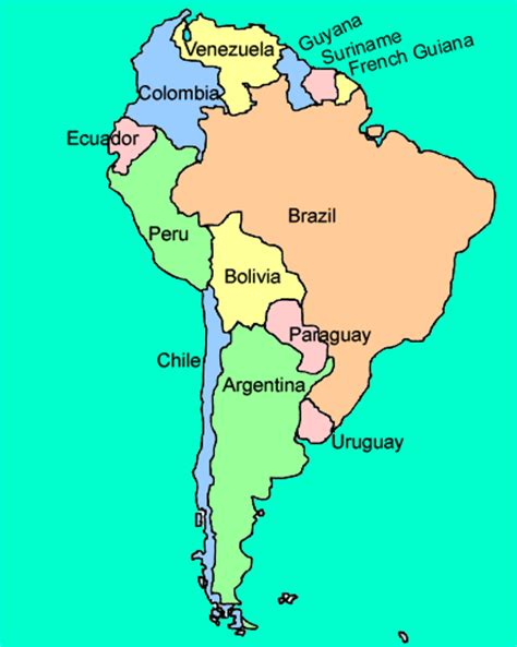 south america map countries and capitals quiz 302 found