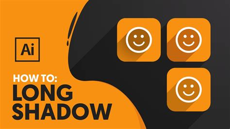 tutorial long shadow illustrator long shadow illustrator tutorial youtube