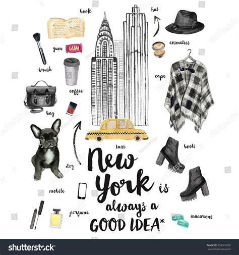 fashion illustration nyc new york fashion illustration watercolor drawing 254369200