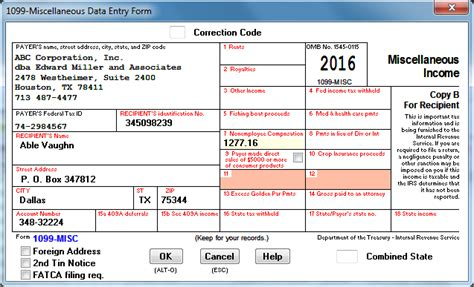 1099 Express Software For Irs Form 1099 1098 5498 W 2 W 3 2016 W2 Form Template