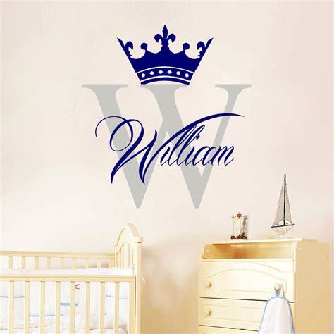 custom wallcoverings wallpaper decals and installation crown boy large frame wall stickers custom name vinyl