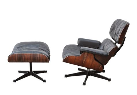 Eames Lounge Chair Palisander by Eames Lounge Chair Ottoman In Palisander 1980s 74483