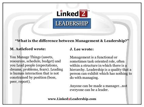Leadership Vs Management Essay by Leadership Management Vs Essays