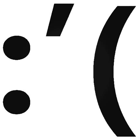 Smiley Sticker Symbols by Crying Upset Smiley Symbols 039 Decal Sticker