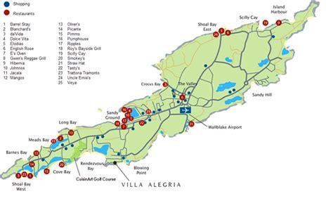 anguilla map map of anguilla villa villa alegria