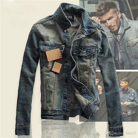 M 8 Styles Fashion Denim Jacket Slim Fit denim jacket slim fit vintage mens jacket and coat top