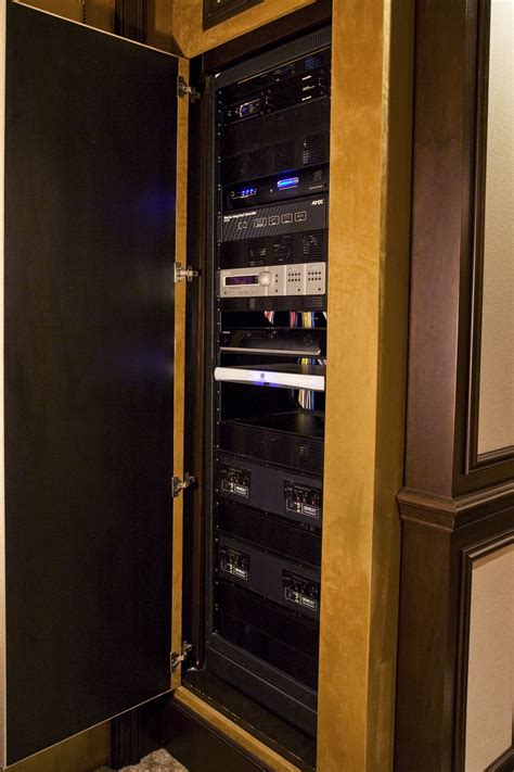 home theater media closet built  theater room
