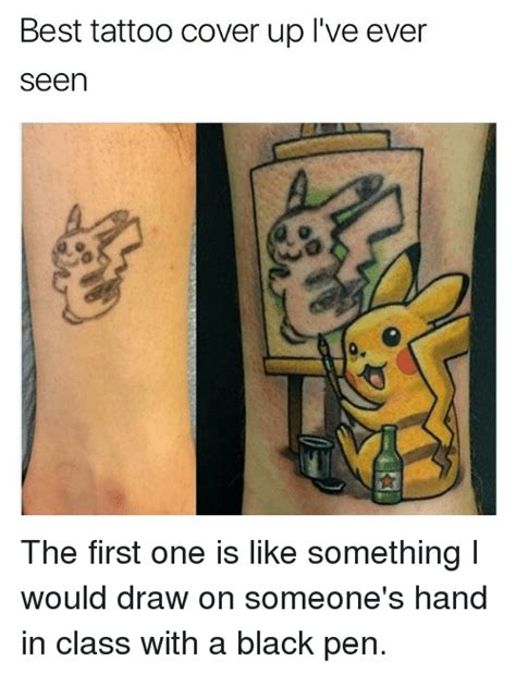 tattoo cover up pen 25 best memes about tattoo tattoo memes