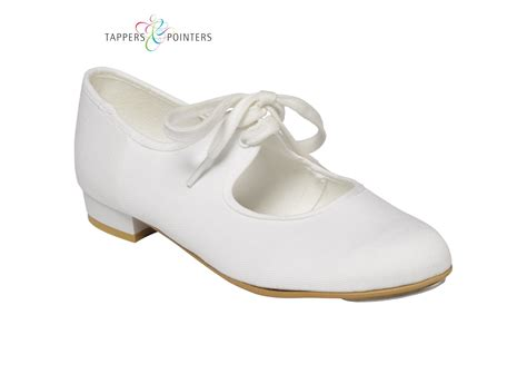 tappers and pointers canvas tap shoes black white the