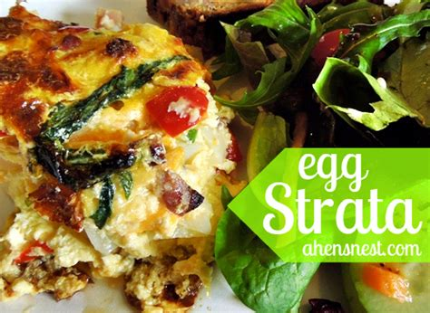 egg strata spring brunch strata with ham potatoes and cheese