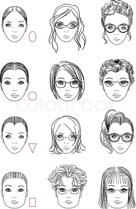 hairstyles on types of faces forms of womens head types of face shape correct and
