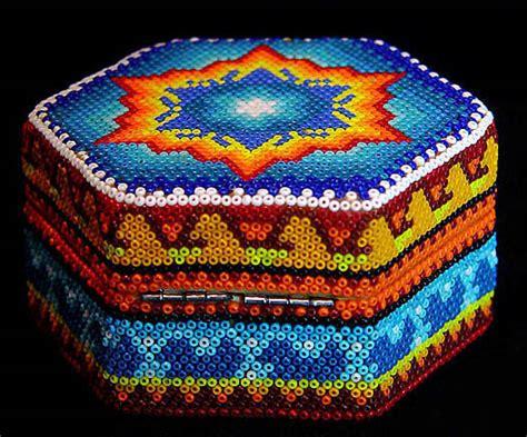 beaded boxes huichol beaded boxes at mexico lindo mercado dsc03575