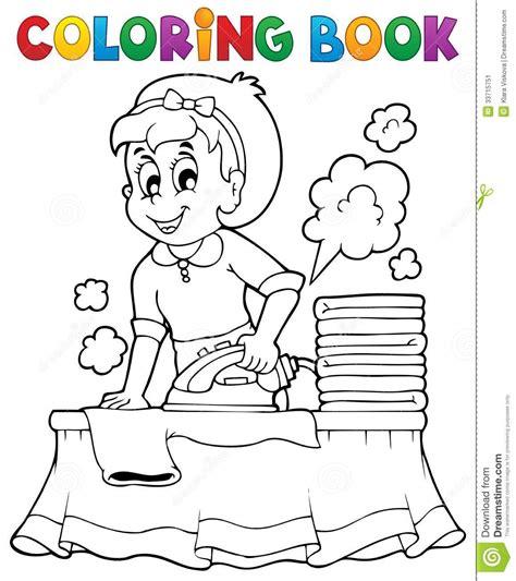libro de colorear con el ama de casa 1 ilustraci 243 n del vector imagen 33715751