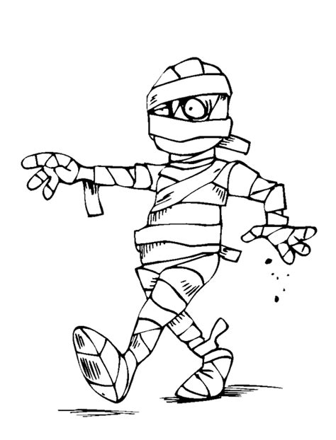 mummy coloring page purple kitty