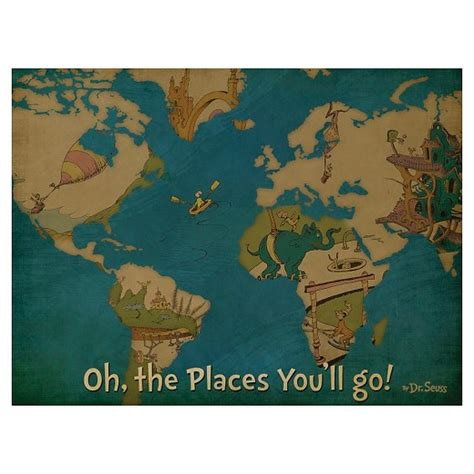 dr seuss oh the places you ll go canvas map 18x24 target