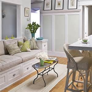 Kitchens With Couches Fitting In Labor Of Love Coastal Living