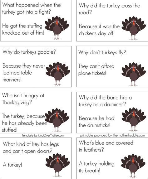 printable thanksgiving jokes and riddles thanksgiving jokes set 2 thanksgiving pinterest