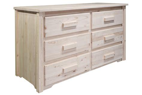 unfinished 6 drawer dresser homestead 6 drawer chest unfinished