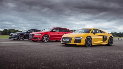 Audi R8 Vs A8 Top Gear Drag Races Audi R8 V10 Plus Vs Audi Rs6 Vs Audi