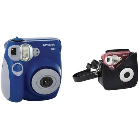polaroid 300 instant blue polaroid 300 instant with faux leather