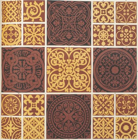 Decorative Tile Backsplash Middle Ages 150 Years In The Stacks