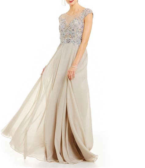 terani couture beaded gown terani couture beaded bodice a line gown dillards