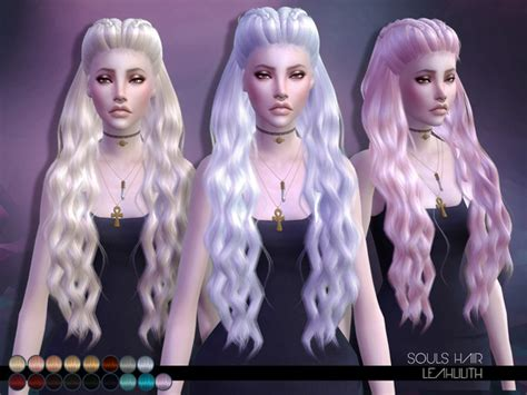 sims 4 hair the sims resource leahlillith souls hair sims 4 downloads
