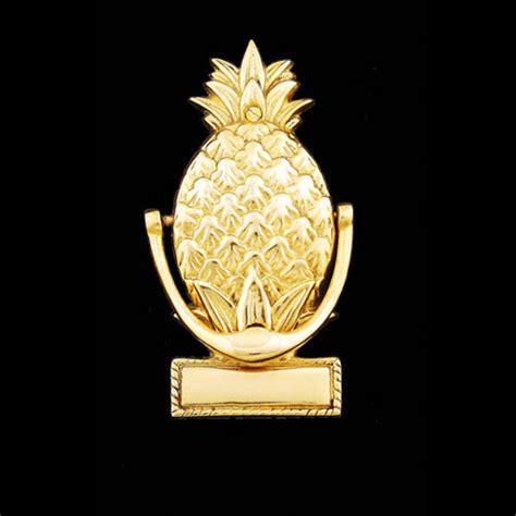 pineapple door knocker engravable pineapple brass door knocker brass gallery