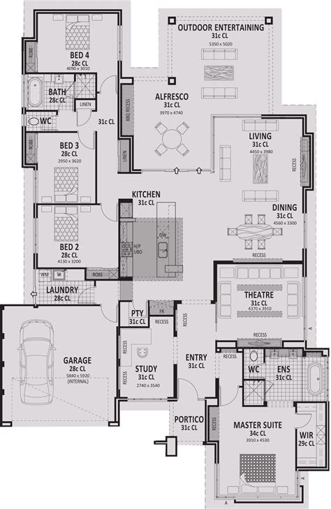 home floor plan designer arcadia award winning open plan entertainer vision one homes perth