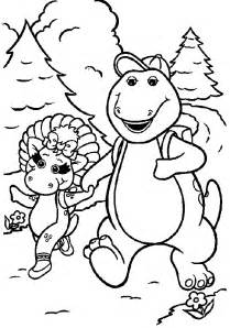 barney coloring pages coloring pages print