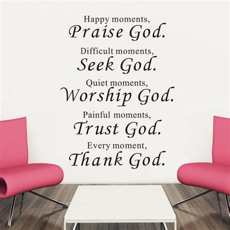Stiker Quotes Happy Moment Praise Allah Wall Sticker Religi Muslim Dec happy moments praise god inspiration wall saying decals quotes stickers home decor in wall