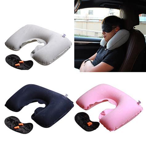 Promo Pvc Neck Pillow High Rest H0t019 Bantal Udara travel neck rest air cushion tanga
