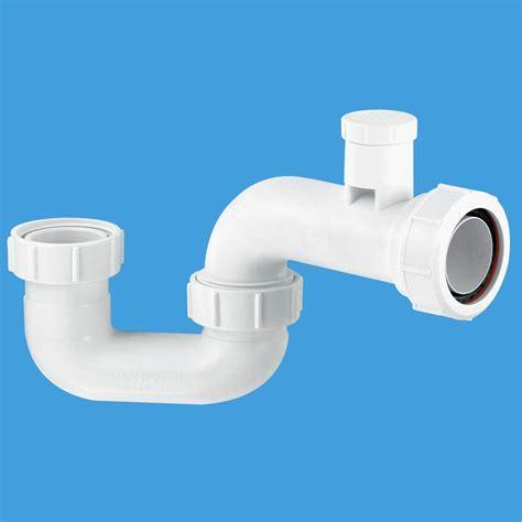 McAlpine Flat Bottom Bath Trap with Air Admittance SMP10V