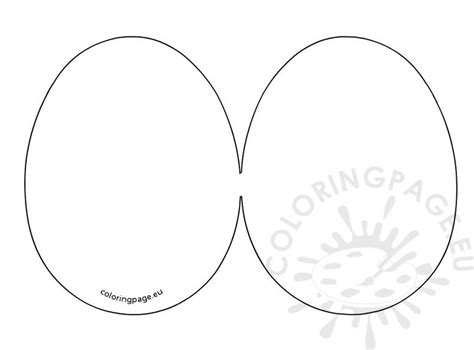 easter card templates for easter egg card template coloring page